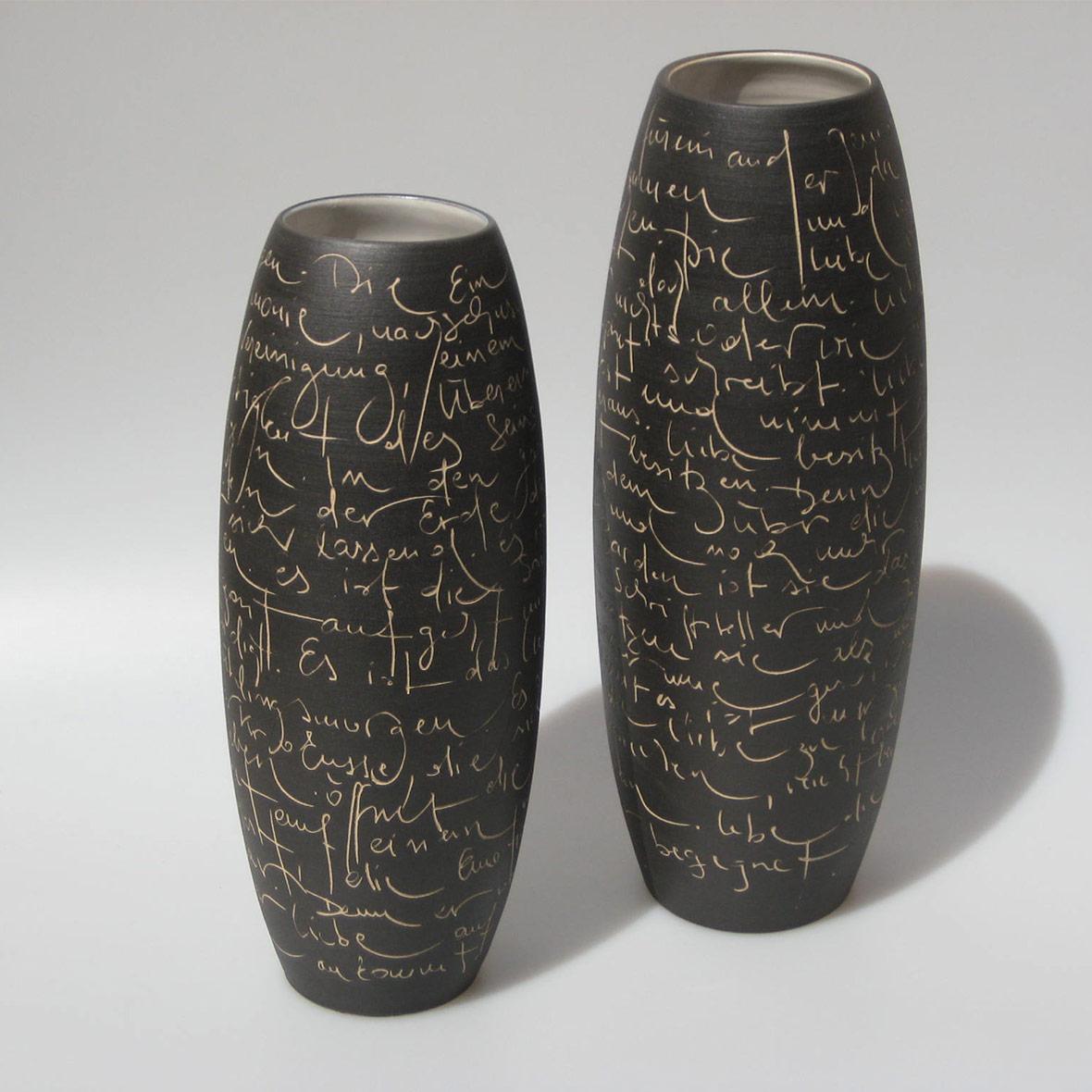 Keramik Vase Scrittura Anita Furrer