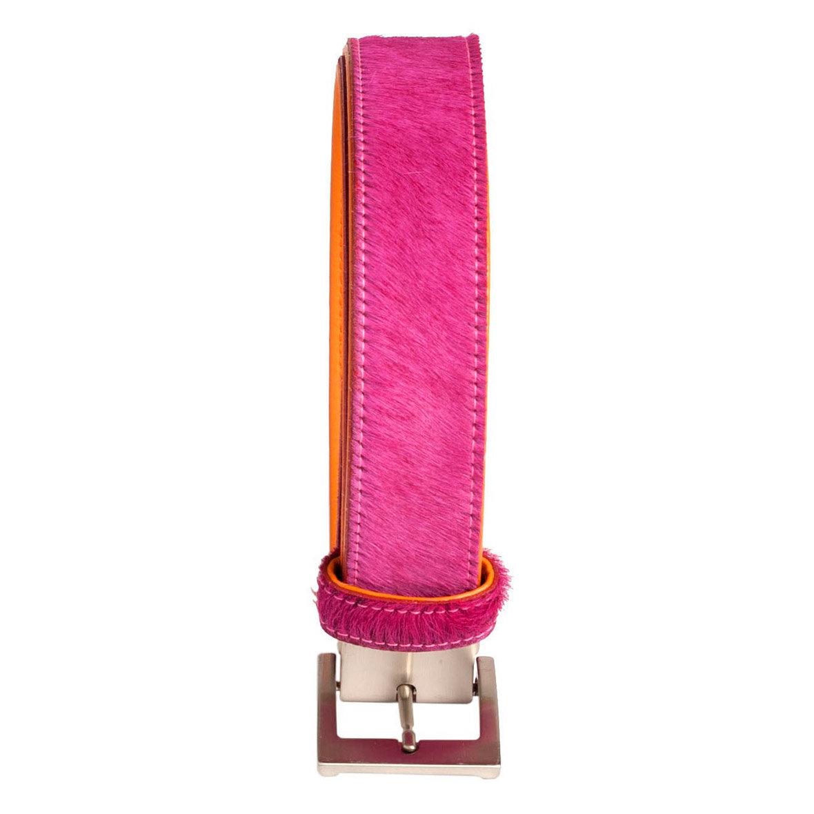 fellgürtel pink von brigitte hürzeler