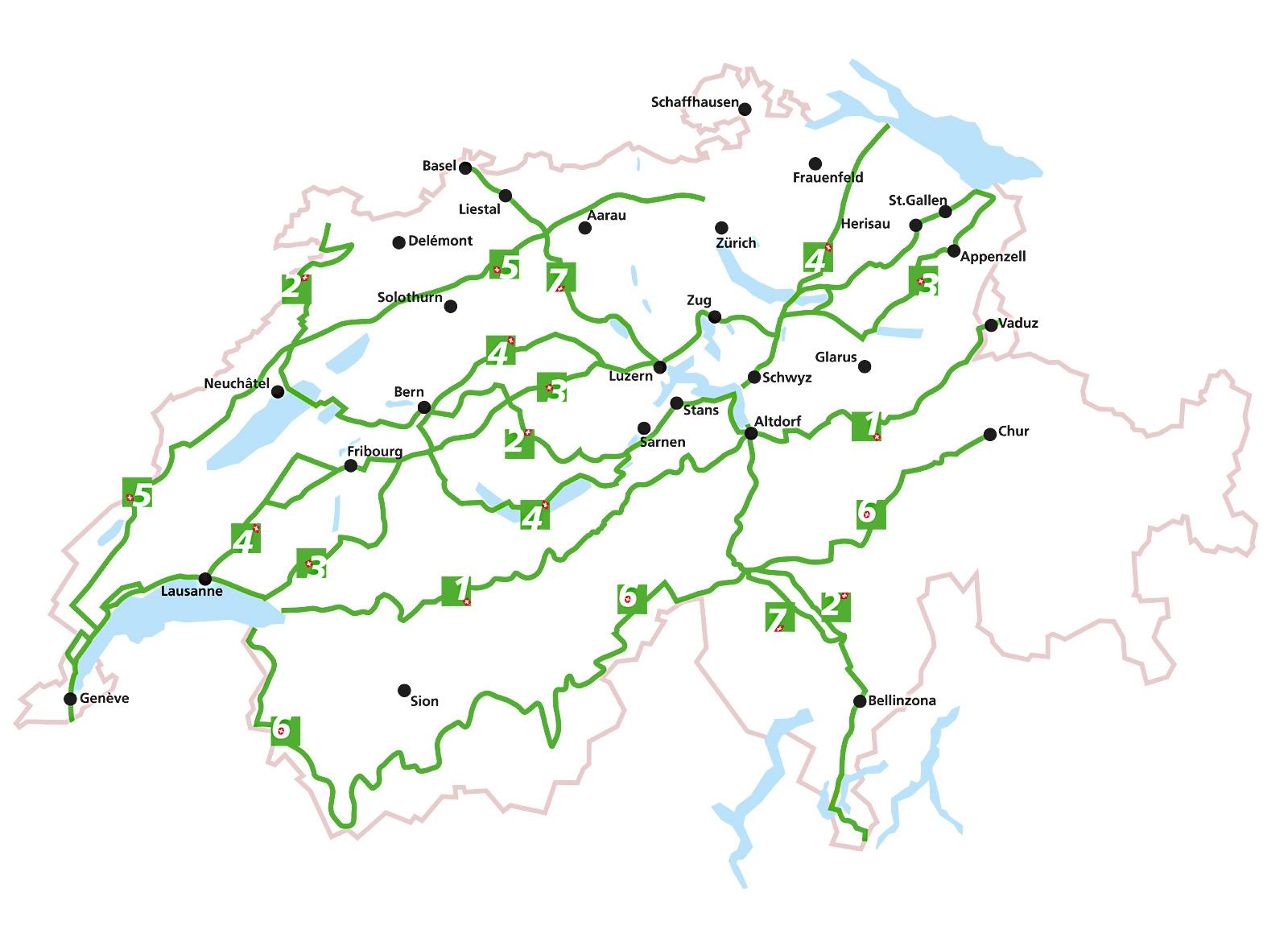 Wanderrouten in der Schweiz