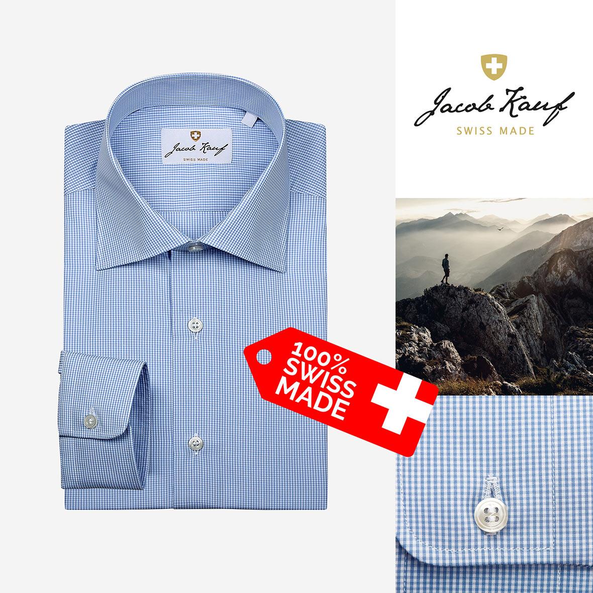 schweizer hemd jacob kauf, fein kariert