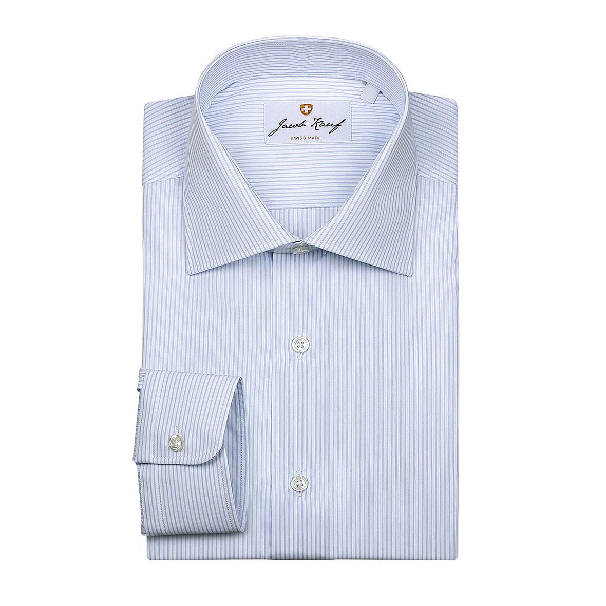 schweizer hemd jacob kauf, feingestreift, blau weiss