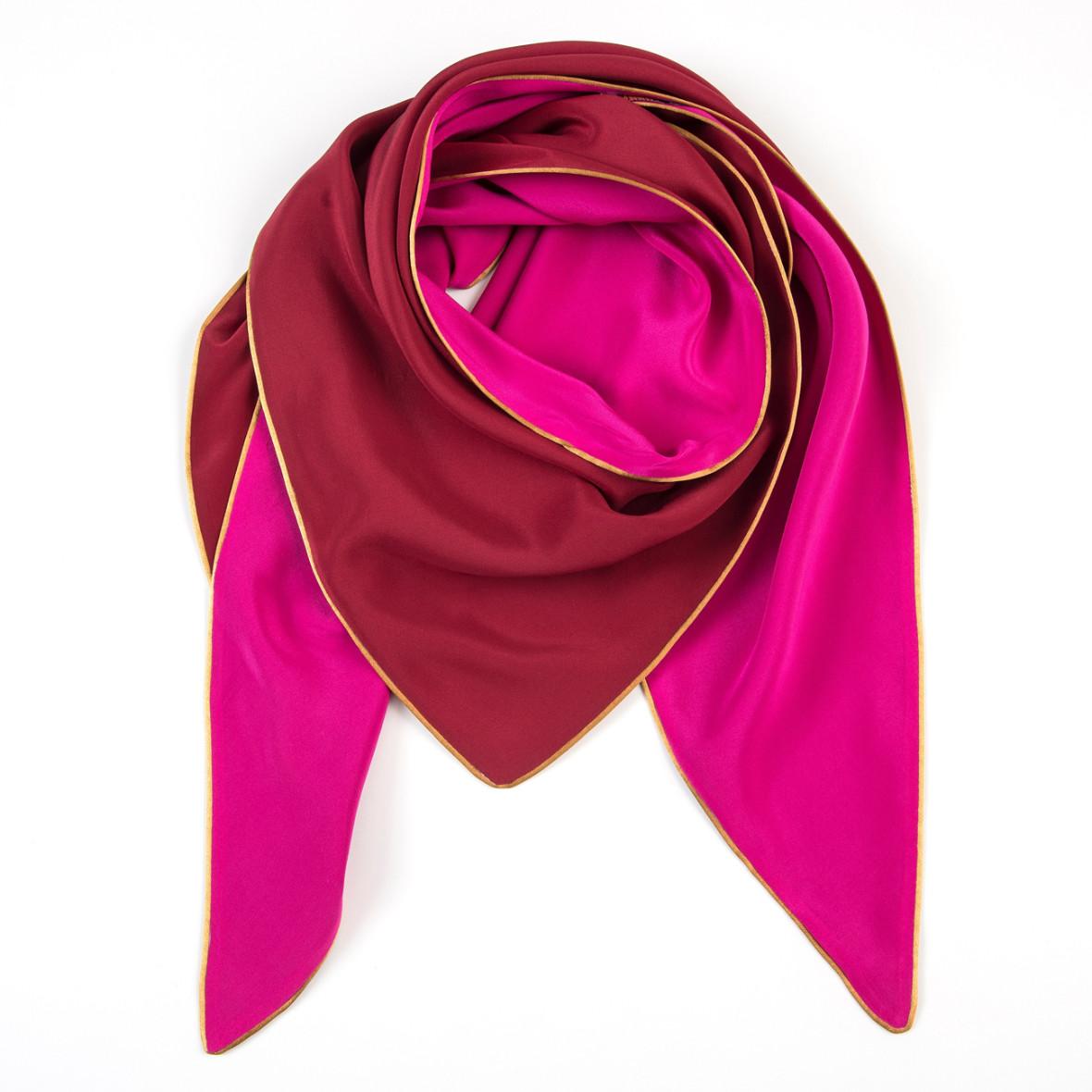 dreieckschal moitié carré in pink bordeaux
