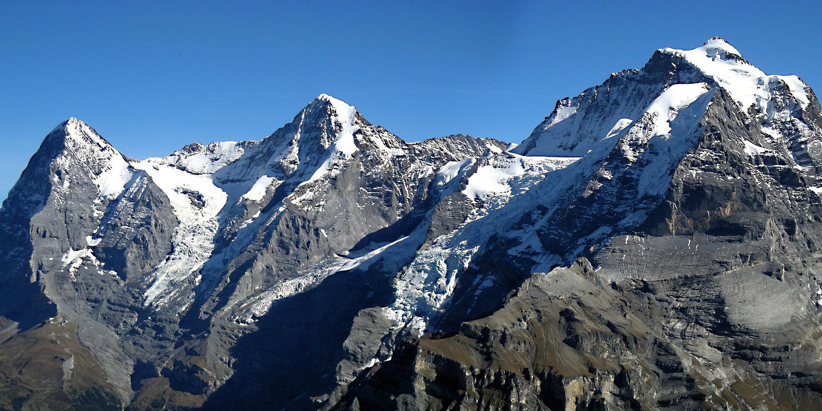 4000er in der Schweiz Eiger Mönch und Jungfrau Berner-Oberland