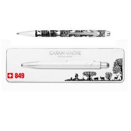kugelschreiber 849 scherenschnitt extraflaches etui schwarz weiss