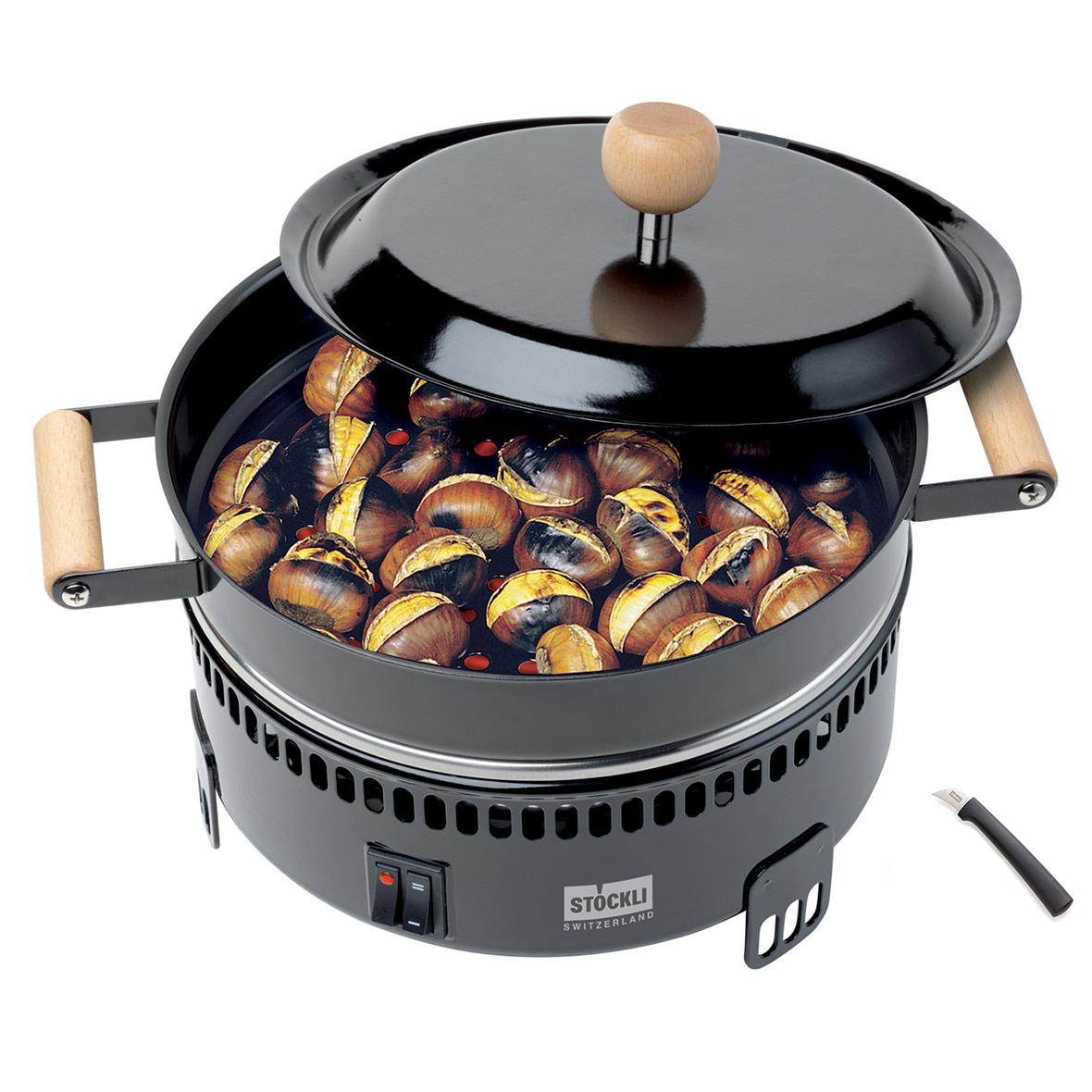 marroniofen gefuellt mit messer stoeckli
