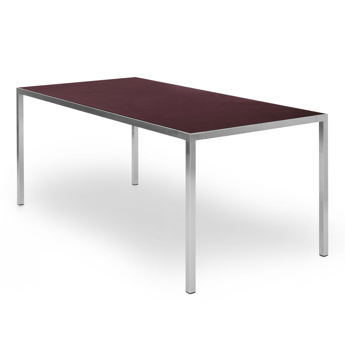 mf tisch von mf system, linol burgundy