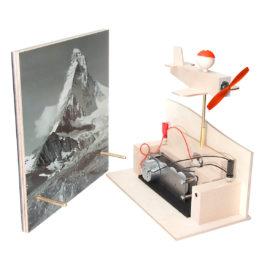 solarspielzeug pilot bertrand und matterhorn solarpannel von solartoys
