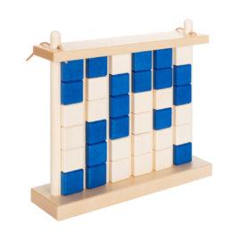vier gewinnt aus holz von ahorn holz und spiel, blau und verschlossen