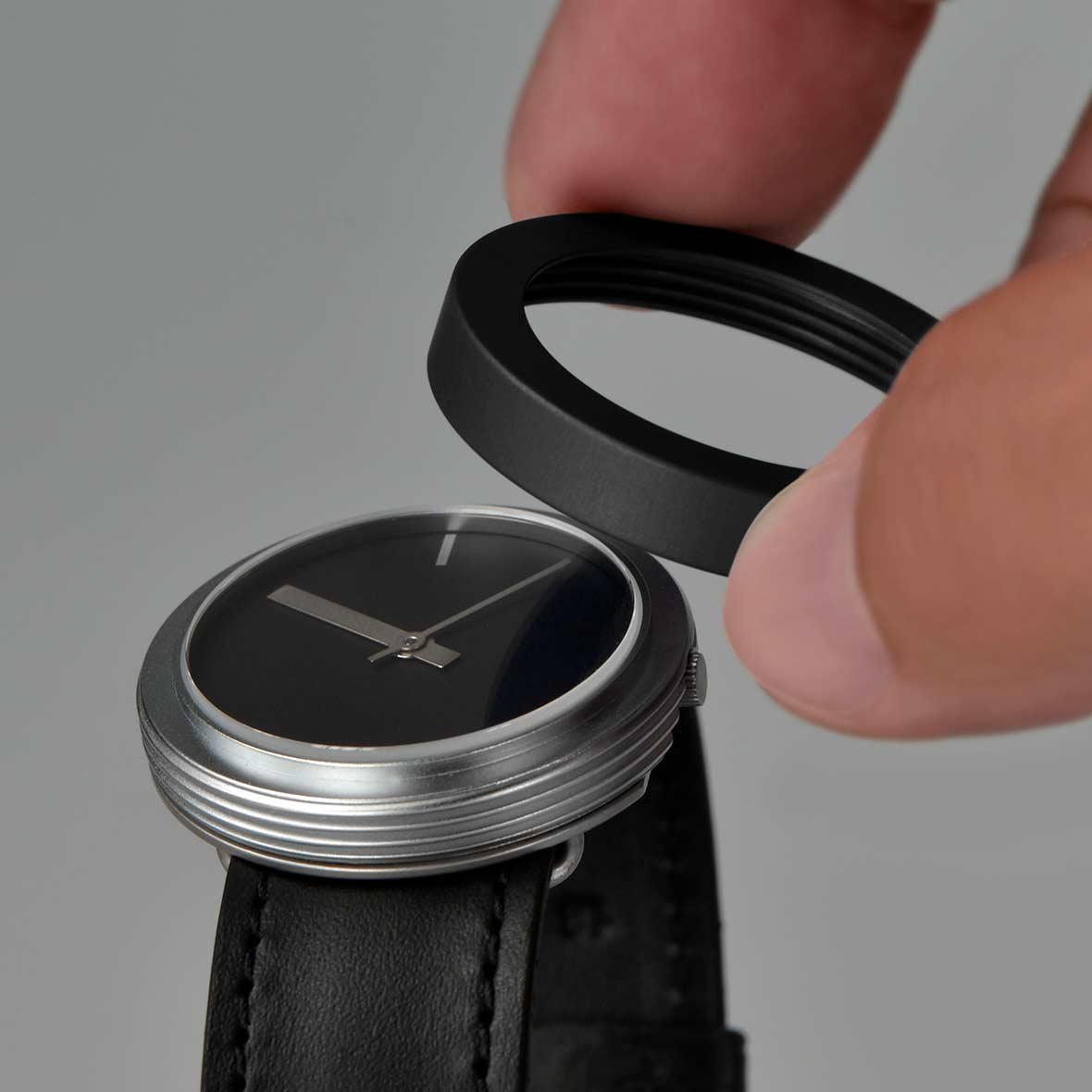 Pierre Junod Uhr Swiss Made Vignelli