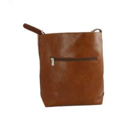 handtasche olivenleder rückseite mit fach