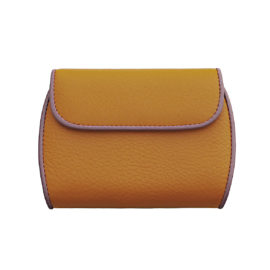 portemonnaie clam 171 farbe orange bordüre lila innen pistache