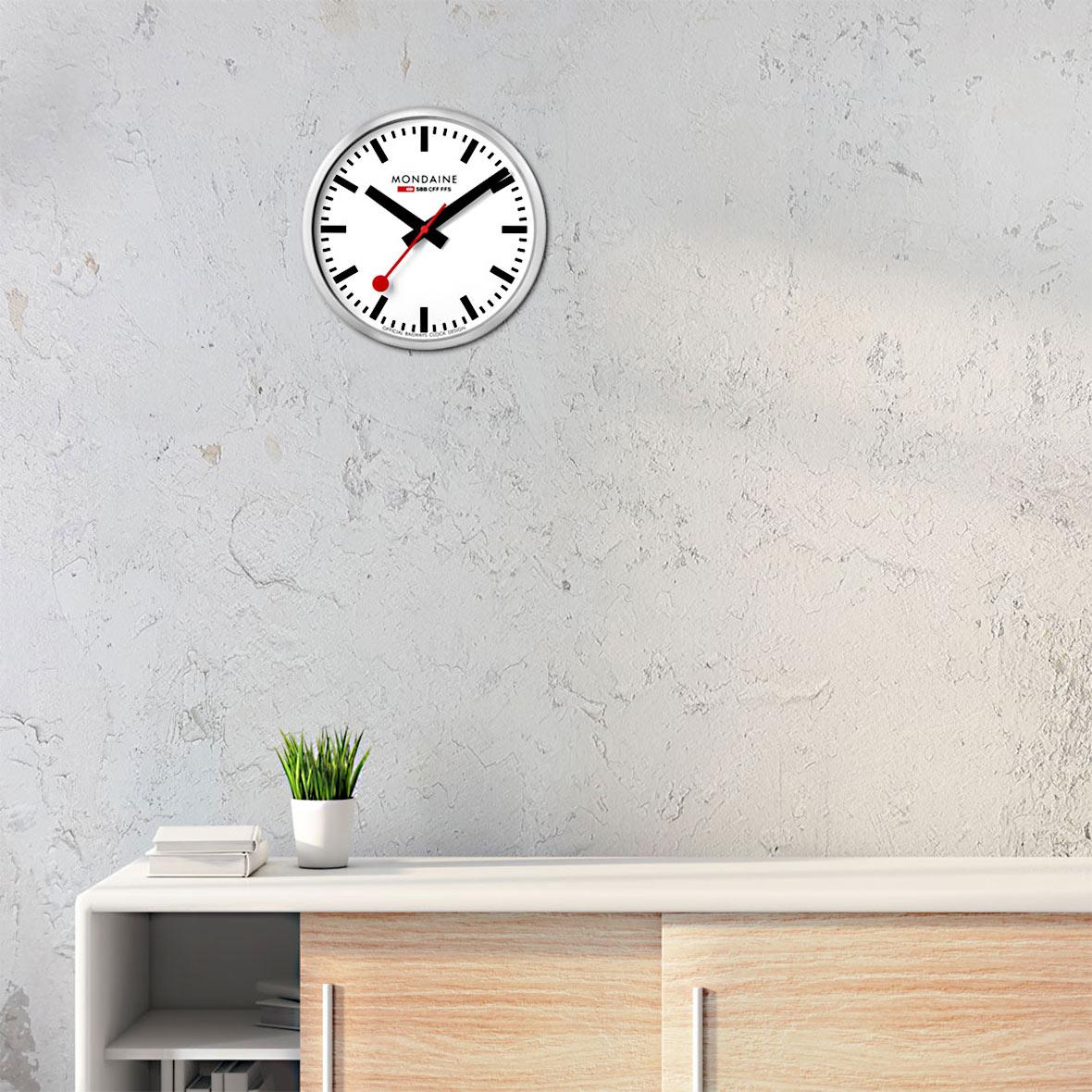 offizielle sbb wanduhr   quarzuhrwerk   stunden /minuten /sekundenanzeige