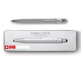 kugelschreiber 849 original aluminium extraflaches etui grau
