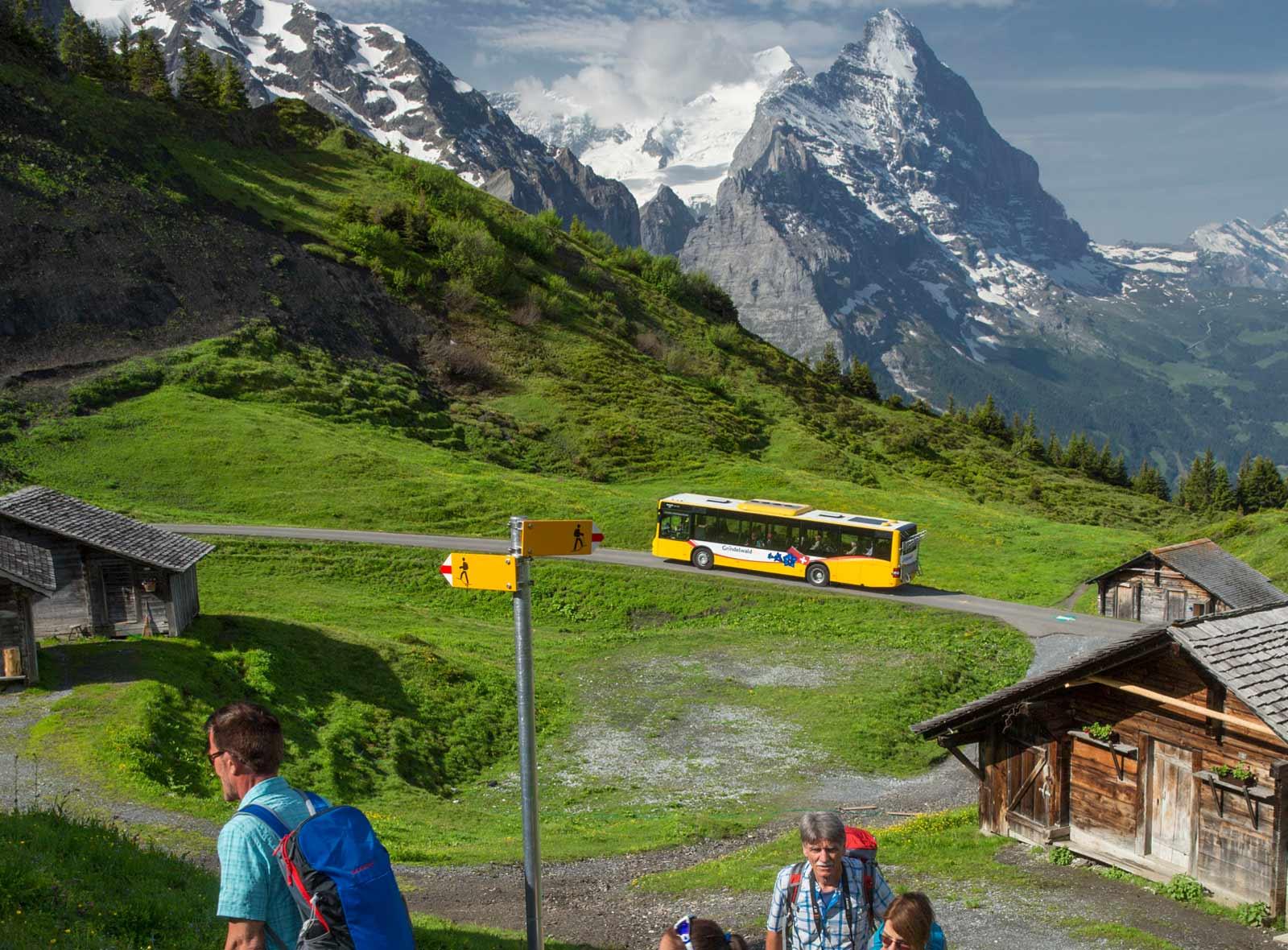 Wandern an der grossen Scheidegg