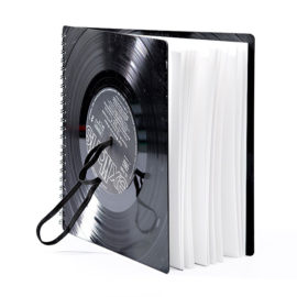 notizbuch vinyl schallplatten blanko 20 x 20 cm zsge