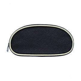 schmink etui kit 09 farbe schwarz bordüre ecru reissverschluss