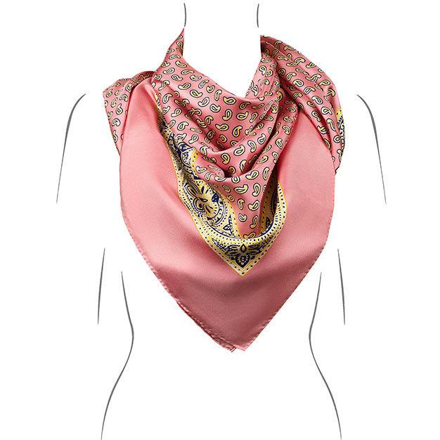 seidentuch koralle handrolliert Öko tex kollektion le foulard