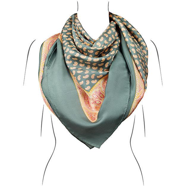 seidentuch mint handrolliert Öko tex kollektion le foulard