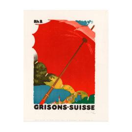 lithografie grisons suisse design maler augusto giacometti steinlithodruck
