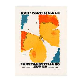 lithografie kunstausstellung zürich 1928 design augusto giacometti steinlithodruck