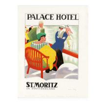 lithografie palace hotel st moritz wolfensberger