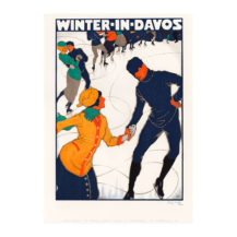 lithografie winter davos wolfensberger