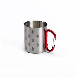 mug outdoor tasse glarner paisley motiv edelstahl karabinergriff
