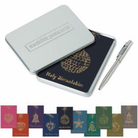 postcard box holy simsalabim postkarten metallkugelschreiber