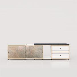 sideboard 63 birkenschichtholz xilobis schiebetüren schiefer