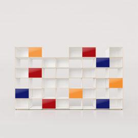wandregal 76 xilobis weiss acrylglas schiebetüren