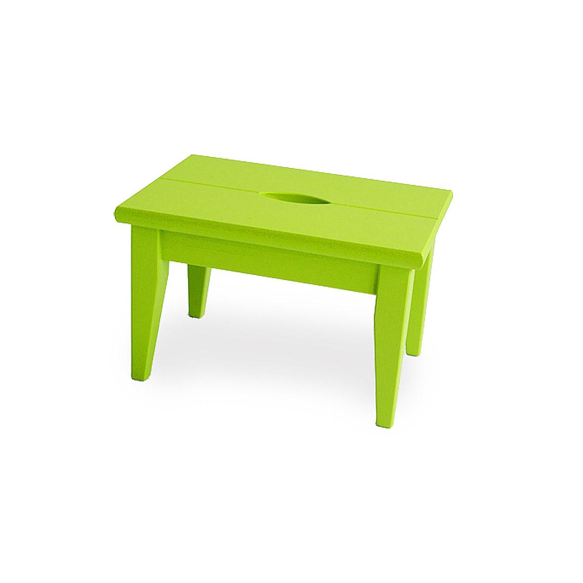 tritthocker fichtenholz fsc 100% grün lackiert
