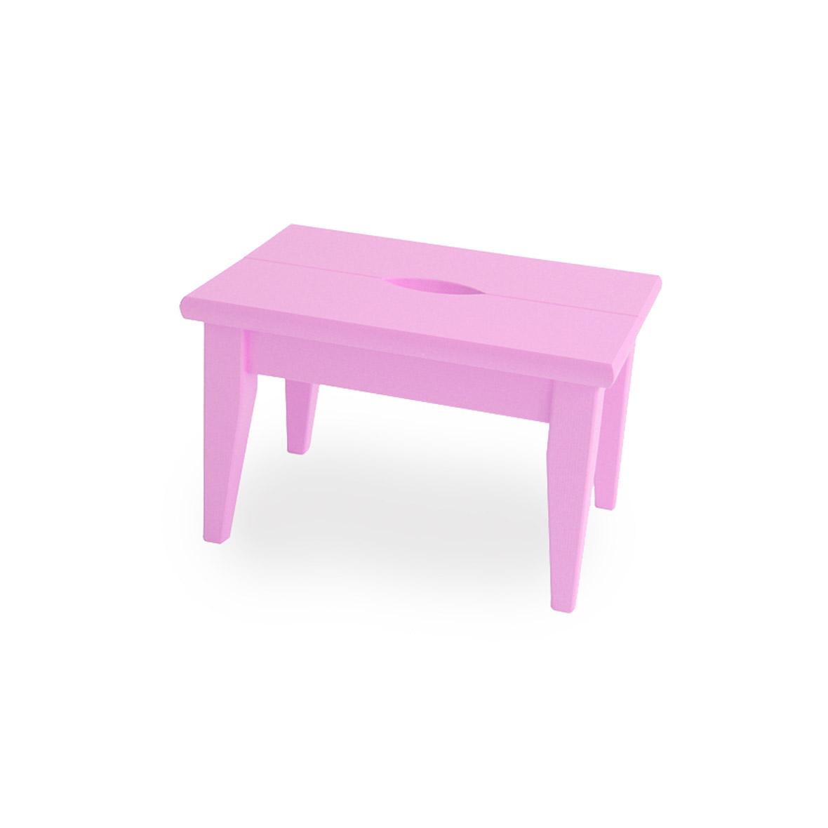 tritthocker fichtenholz fsc 100% pink lackiert