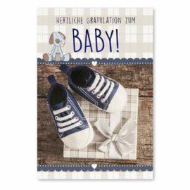 babykarte babyschuhe junge