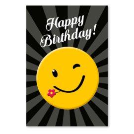 geburtstagskarte smiley happy birthday