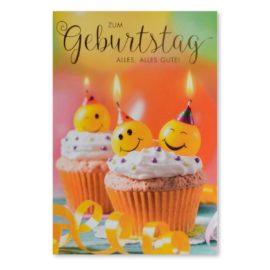 geburtstagskarte cup cakes