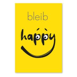 kopf hoch karte: bleib happy