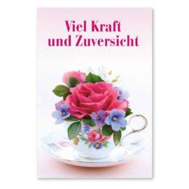 kopf hoch karte: vase mit rose