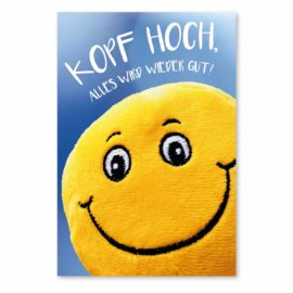 kopf hoch karte: smiley