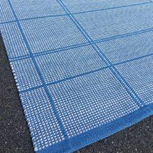 teppich karo blau handgewoben grau anna saarinen