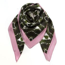 foulard carre banana leaves souze