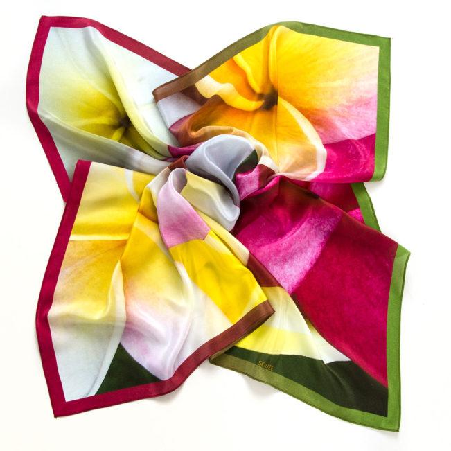 foulard frangipani ansicht offen midi souze