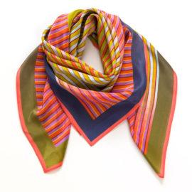 foulard carre midi merging stripes souze