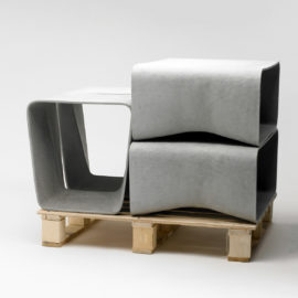 ecal table chair eternit