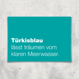 postkarte tuerkisblau brima design