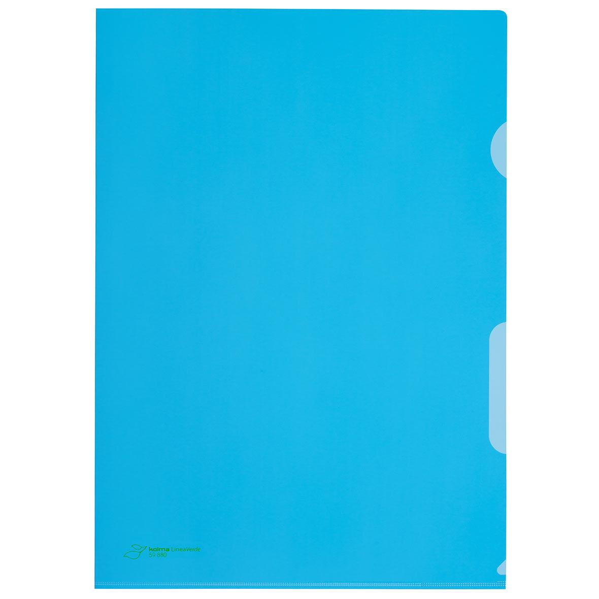 sichtmappe blau 100 stueck kolma