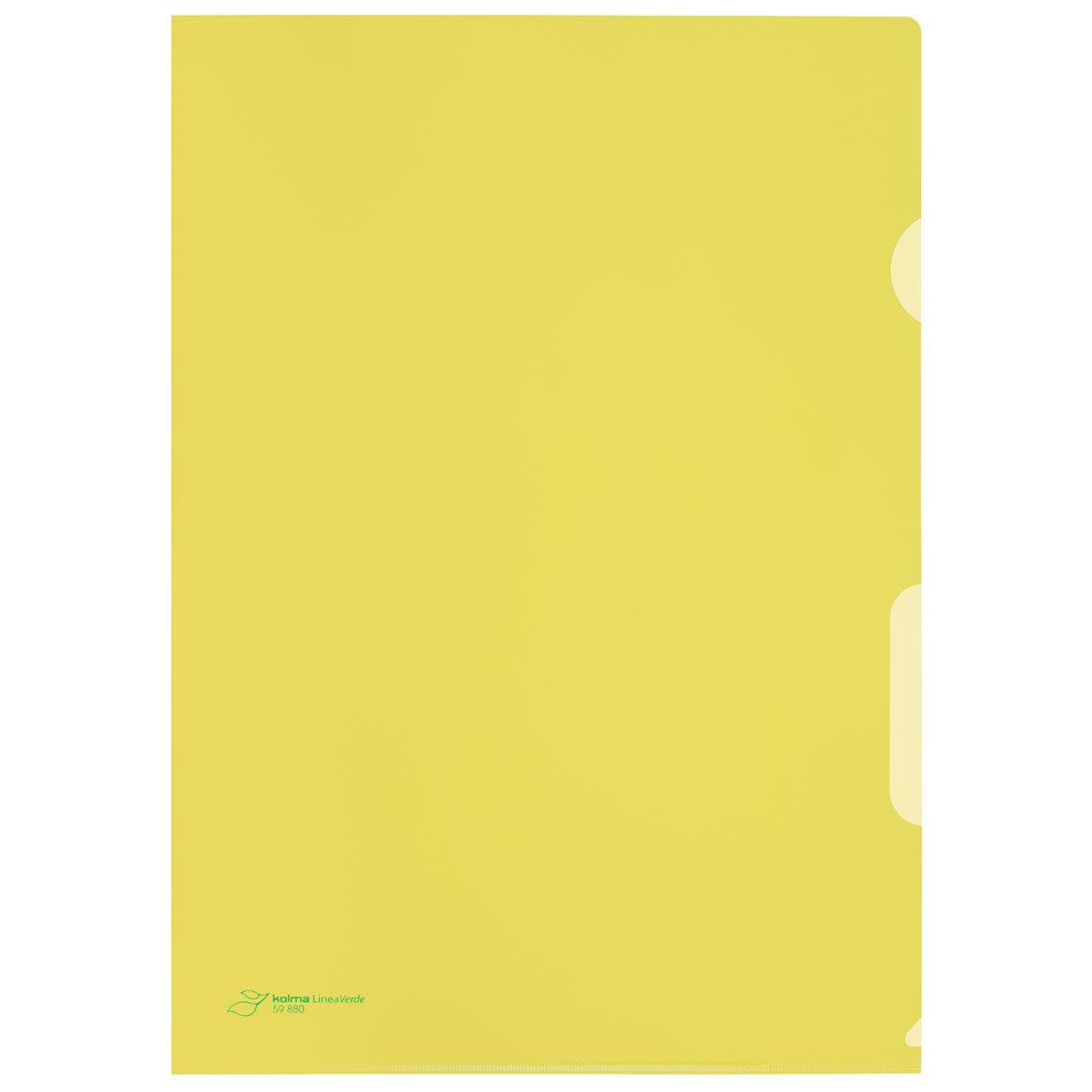sichtmappe gelb 100 stueck kolma