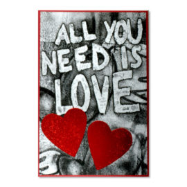 valentinstag all you need is love abc karten