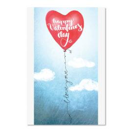 valentinstag roter ballon happy valentin abc karten
