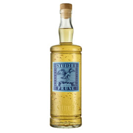 vieilles prune 70 cl mit 24 karat goldflitter studer distillerie – réserve baron louis