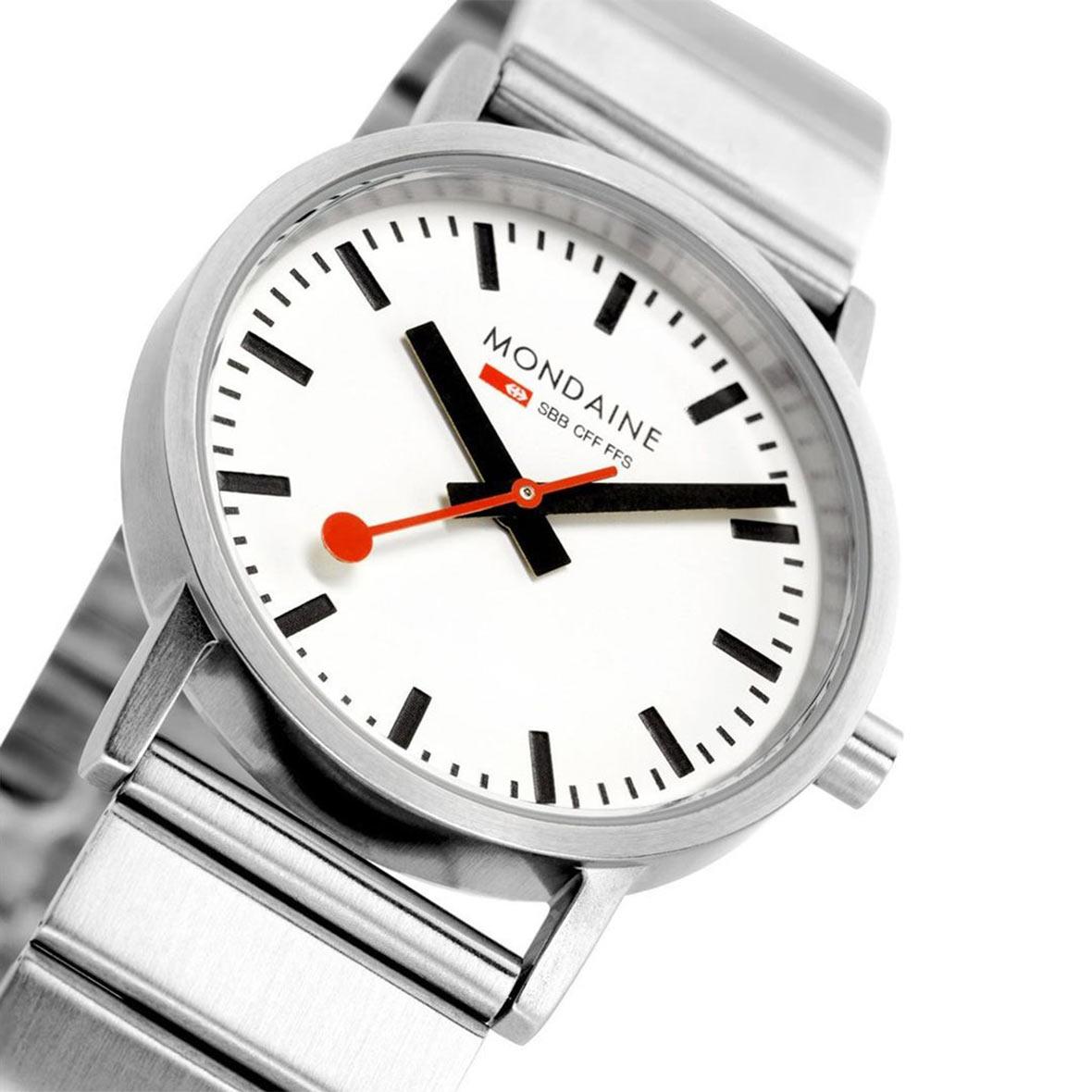 armbanduhr silber classic armband mondaine